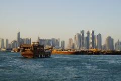 Doha en el mediodía Foto de archivo libre de regalías
