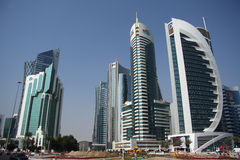 Doha financial and administrative district Stock Images