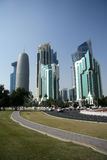 Doha financial and administrative district Royalty Free Stock Photography