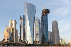 Doha góruje Zdjęcia Royalty Free