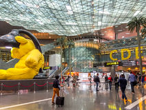 Doha Hamad airport Royalty Free Stock Image