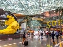 Doha Hamad flygplats Royaltyfri Bild