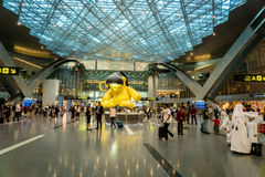 Doha Hamad International Airport, Qatar Photo stock