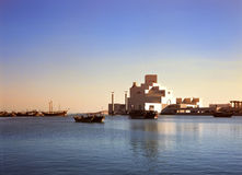 doha hamnmuseum qatar Arkivbild