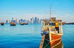 In Doha harbor, Qatar Royalty Free Stock Image