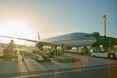 Doha Internationale Luchthaven royalty-vrije stock fotografie