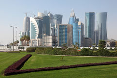 Doha new downtown district Royalty Free Stock Images