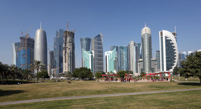 Doha new downtown district, Qatar Stock Photo