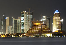 Doha at night Royalty Free Stock Image