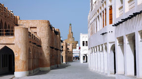 Doha Old Souk Royalty Free Stock Photos