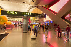 Doha airport. Doha is one of the new airline hubs in Asia and also home airport of Qatar airways Stock Photos