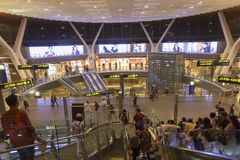 Doha airport. Doha is one of the new airline hubs in Asia and also home airport of Qatar airways Royalty Free Stock Image
