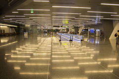 Doha airport. Doha is one of the new airline hubs in Asia and also home airport of Qatar airways Stock Image