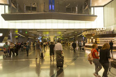 Doha airport. Doha is one of the new airline hubs in Asia and also home airport of Qatar airways Royalty Free Stock Images
