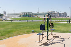 Doha park equipment Royalty Free Stock Photography