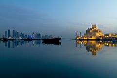 Doha Qatar. Doha corniche skyline in Qatar Royalty Free Stock Images