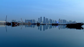 Doha Qatar. Doha skyline view in qatar Stock Image