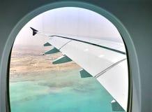 Doha Qatar die, 17 Maart, 2017 met de luchtroutes van Qatar in Hamad International Airport vliegen is de internationale luchthave Stock Foto's