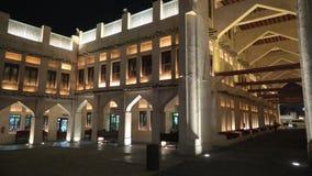 Falcon Souq Doha night stock video footage