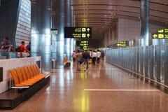 Doha, Qatar - 14 February, 2017: Interior of Hamad International Airport Terminal Stock Photos