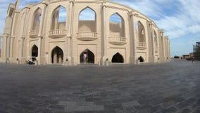 Katara Amphitheatre Doha. Doha, Qatar - February 17, 2019:Side view of Katara Amphitheatre, a classical Greek theatre in Katara Village also named valley of stock video