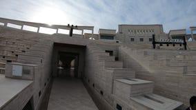 Katara Amphitheatre stairways. Doha, Qatar - February 17, 2019: stairways inside Katara Amphitheatre, a classical Greek theater in Katara Cultural Village also stock video