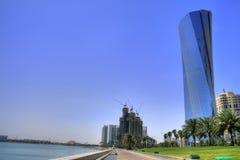 Doha (Qatar/Katar) - Fantastische horizon Royalty-vrije Stock Afbeeldingen