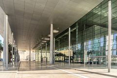 Doha Exhibition and Convention centre in Doha Qatar. Doha,Qatar on Mar 2018: The Doha Exhibition & Convention Centre DECC is of the largest and most Stock Image