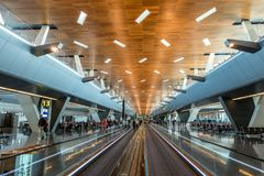 Hamad International Airport in Doha Qatar stock photo