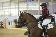 Action from the  CHI Al Shaqab 2013. DOHA, QATAR - March 30: Horseback action during the CHI Al Shaqab International equestrian event on March 30, 2013 in Doha Royalty Free Stock Photos