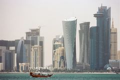 Skyscrapers in Doha Qatar Royalty Free Stock Photography