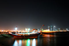 Doha - Qatar  -  Night scene Stock Photography