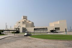 The distinctive shape of the Museum of Islamic Art in Doha, Qatar, designed by architect I M
