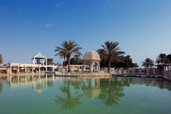Doha, Qatar: Recreational parks are commonplace in the capital. Doha, Qatar: Recreational parks are commonplace along the Corniche in the capital Royalty Free Stock Images