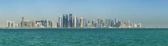 Doha Qatar Skyline Stock Image