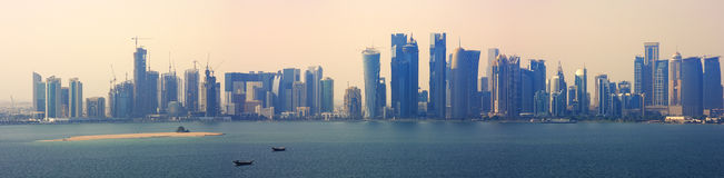 Doha quatar. Skyline of the new doha business district quatar Royalty Free Stock Photo