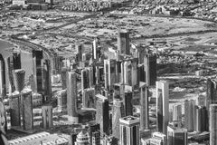 DOHA, QUATAR - DECEMBER 12, 2016: City aerial skyline from the a Royalty Free Stock Photography