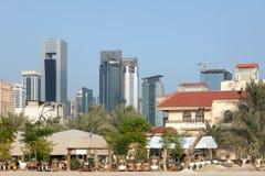 doha śródmieście Qatar Obrazy Royalty Free