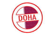 DOHA Rubber Stamp Stock Images