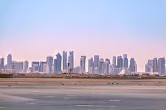Doha skyline. Cityscape of Qatar capital. stock photo