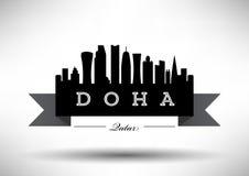 Doha Skyline Design vector illustration