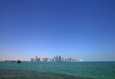 Doha skyline with modern highrise buildings Royalty Free Stock Photos
