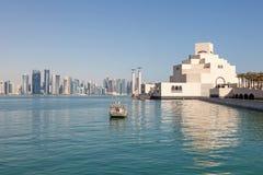 Doha Skyline and Museum of Islamic Arts Stock Photos