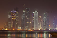 Doha skyline at night, Qatar Royalty Free Stock Image