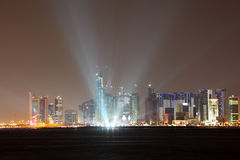 Doha skyline at night. Qatar Royalty Free Stock Image