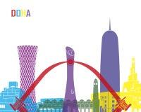 Doha skyline pop Stock Photography