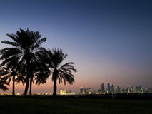 Doha skyline in qatar Stock Images