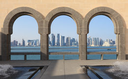 Doha skyline view, Qatar Stock Photos