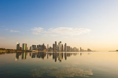 Doha Skyline wide angle Stock Image