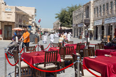 Doha souq view Stock Images